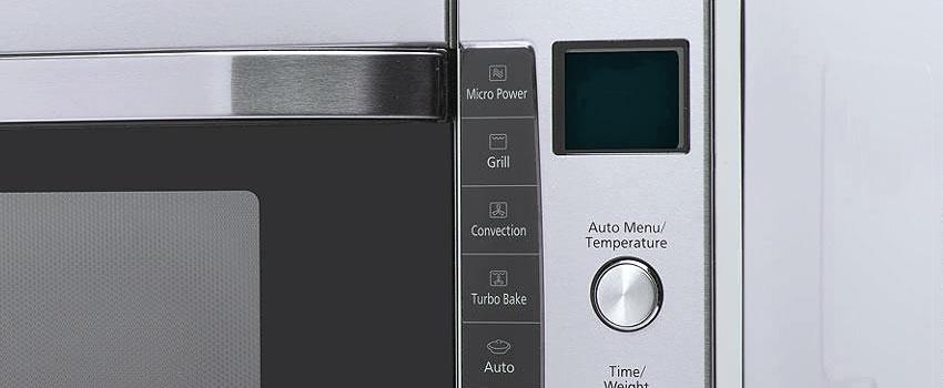 fuera del horno microondas sin manchas